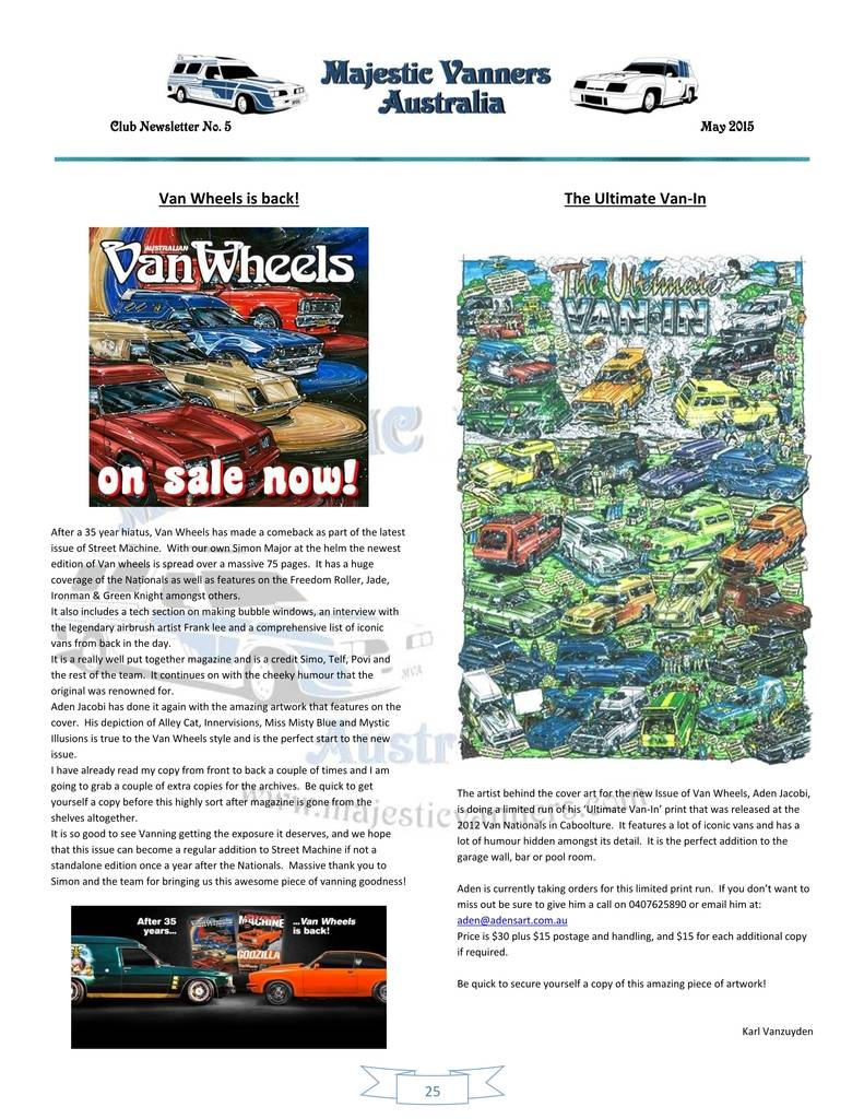 Majestic Vanners Newsletter Issue No.5 May 2015 25_zpsseqnalwp