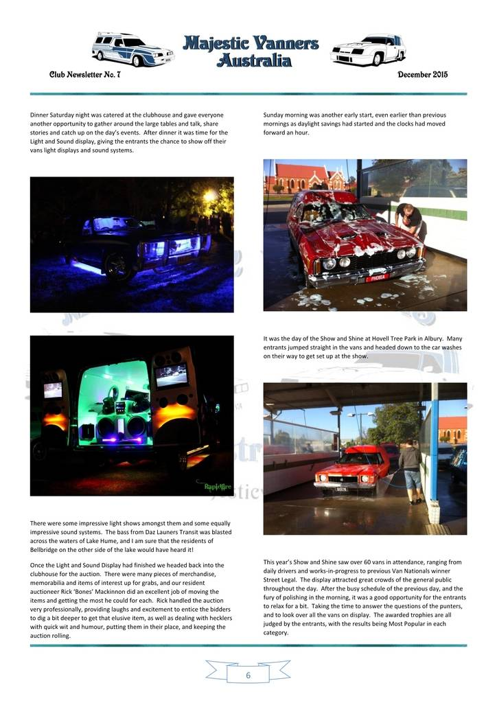 Majestic Vanners Newsletter Issue No.7 December 2015 06_zps44hdr5ld