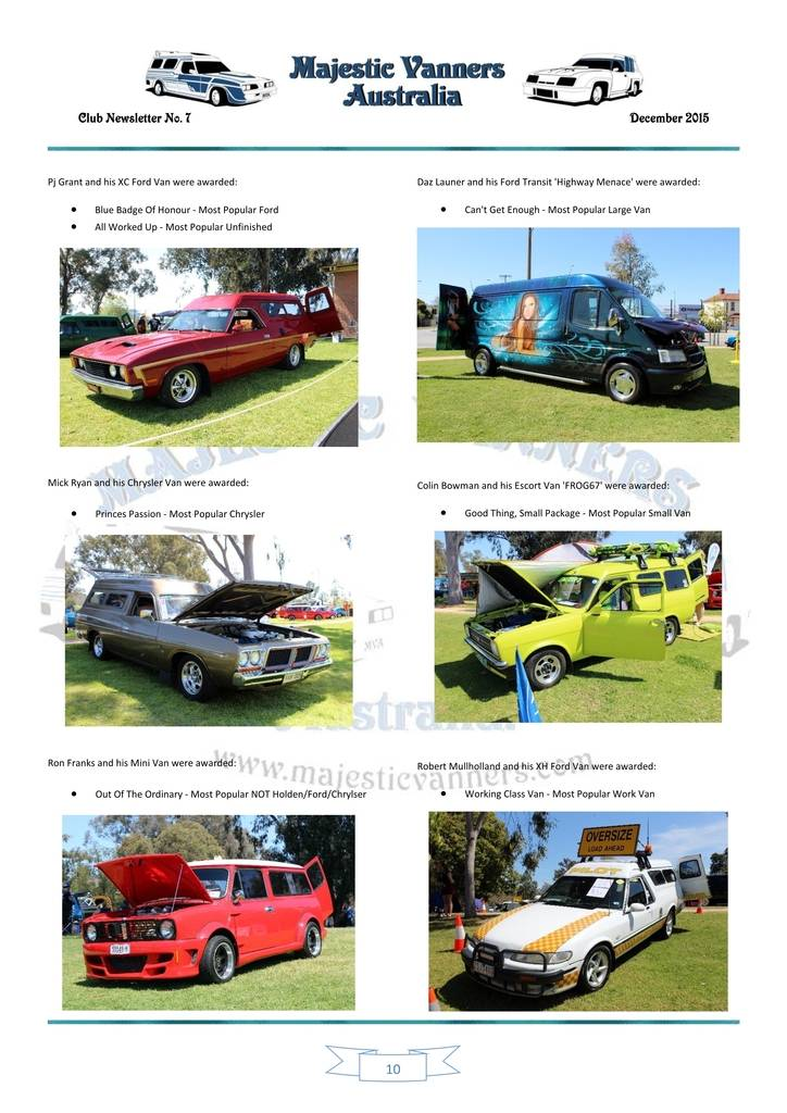 Majestic Vanners Newsletter Issue No.7 December 2015 10_zps6l9vincx