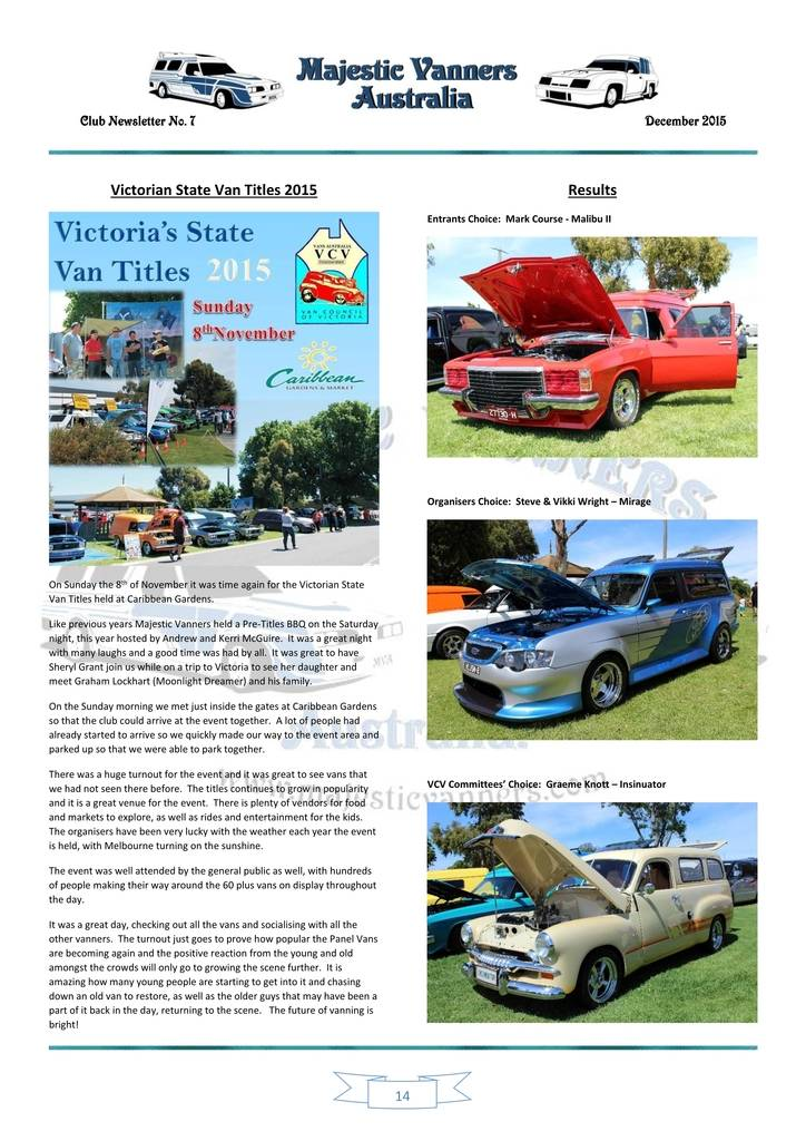 Majestic Vanners Newsletter Issue No.7 December 2015 14_zpsizmvkorz