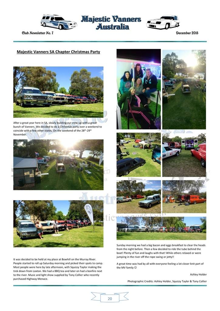 Majestic Vanners Newsletter Issue No.7 December 2015 20_zpsnbty84os