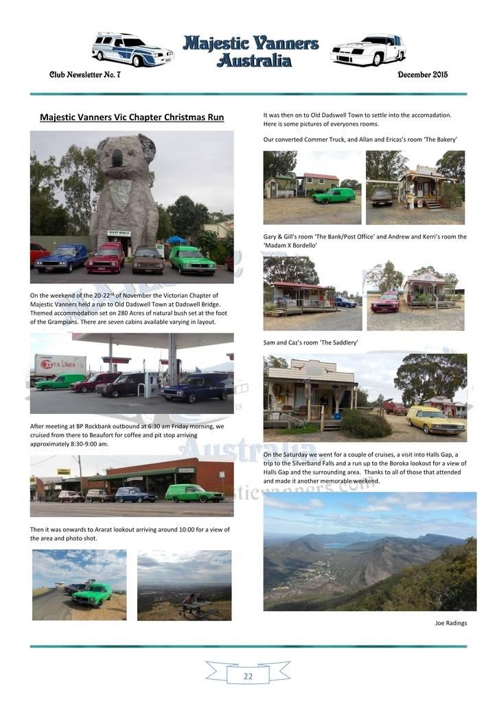 Majestic Vanners Newsletter Issue No.7 December 2015 22_zpszirebfrs