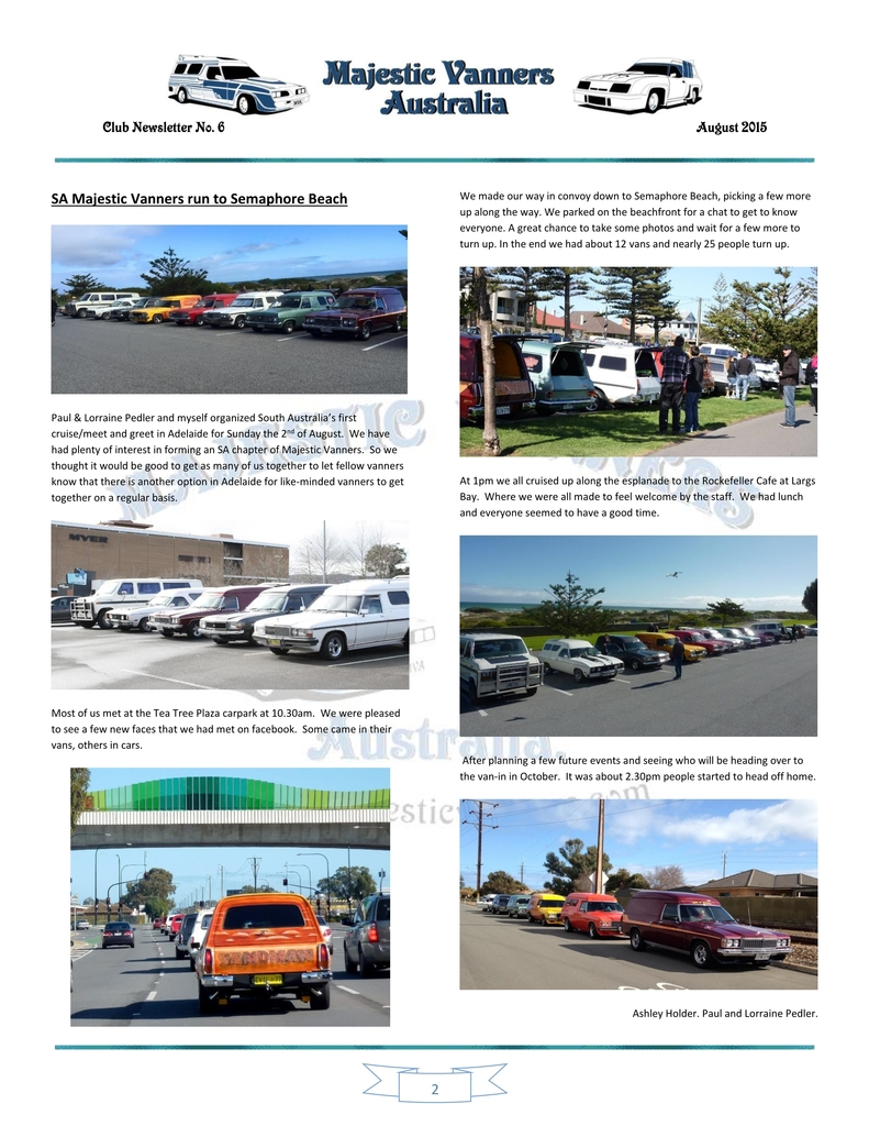 Majestic Vanners Newsletter Issue No.6 August 2015 02_zpsmrbsmgff