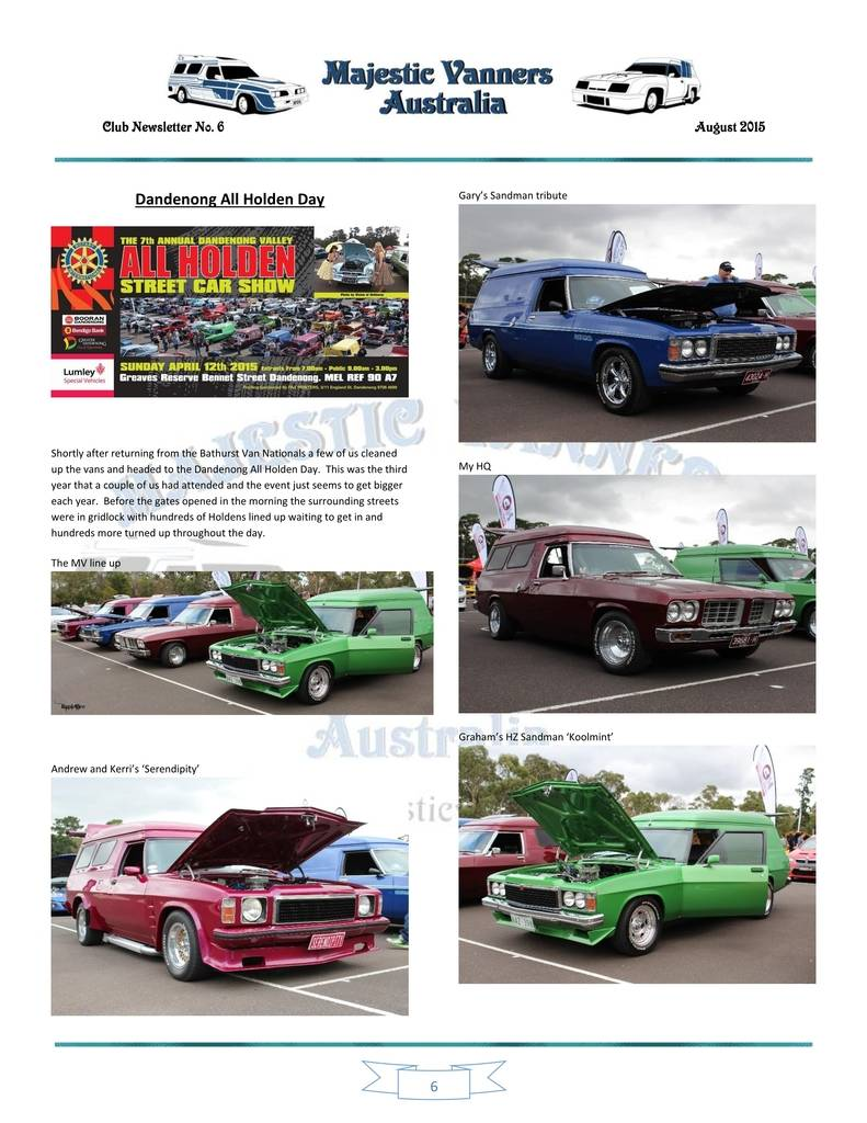 Majestic Vanners Newsletter Issue No.6 August 2015 06_zps6nutfqjq