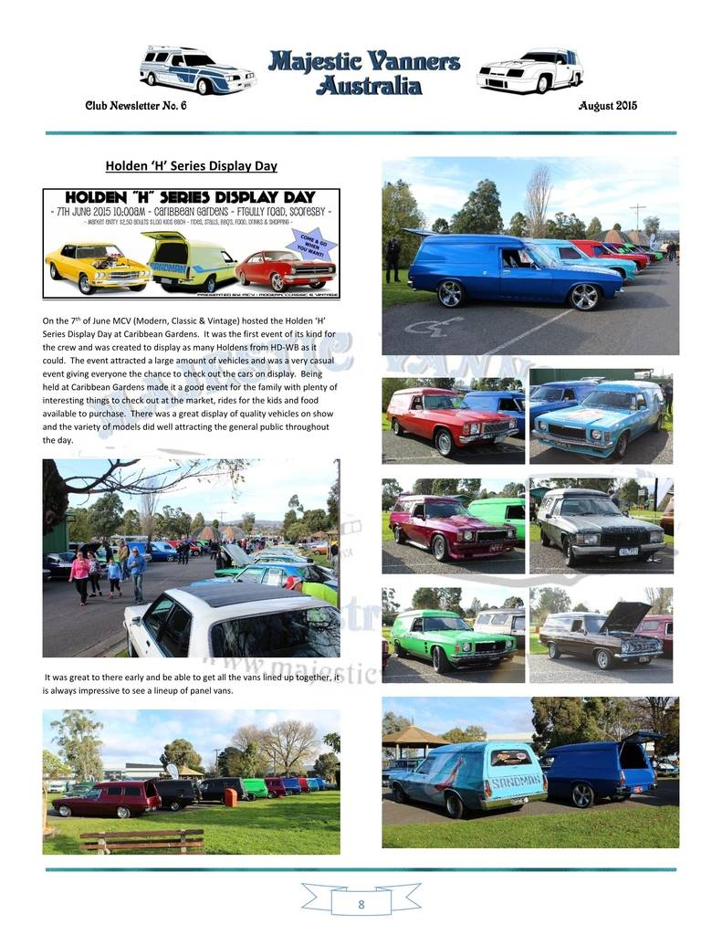 Majestic Vanners Newsletter Issue No.6 August 2015 08_zpstac4viv9