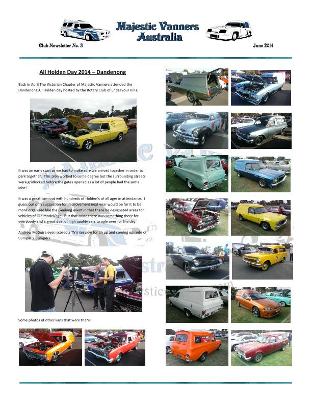 Majestic Vanners Newsletter No.3 June 2014 MVNewsletterNo3-p06_zps268c7188