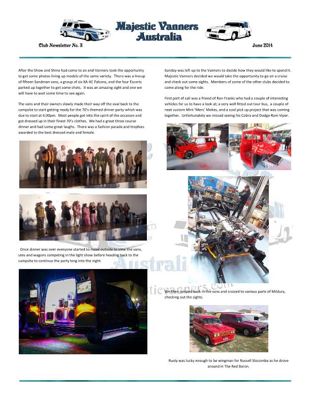 Majestic Vanners Newsletter No.3 June 2014 MVNewsletterNo3-p12_zpsd3644368