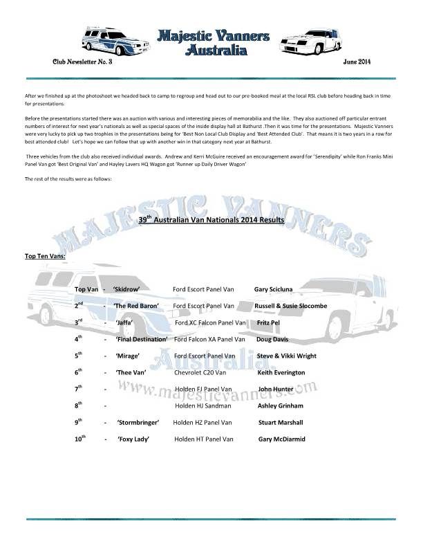 Majestic Vanners Newsletter No.3 June 2014 MVNewsletterNo3-p15_zps56a12943