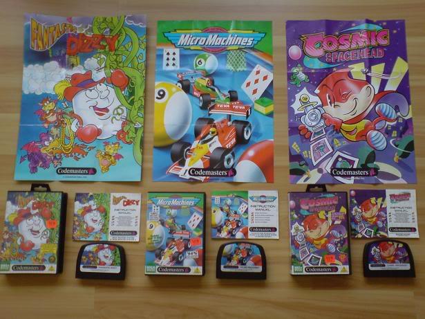 Liste des goodies, posters, ou autres fournis avec les jeux Master System. Codemastersset