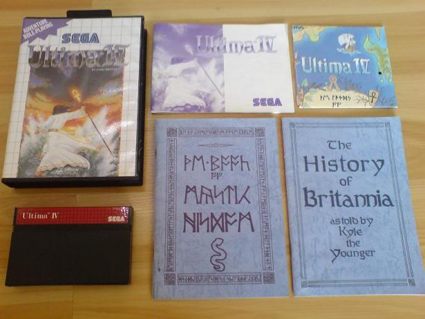 Liste des goodies, posters, ou autres fournis avec les jeux Master System. Ultima4set