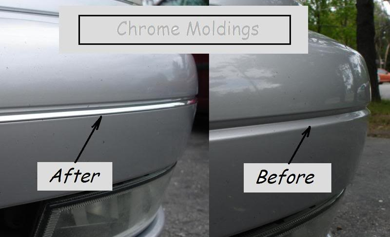 New MOD! Chrome Trim BEFOREandAFTER
