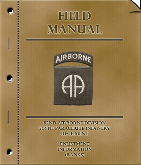 Enlistment Manual - Rank Tasks FieldManualCover-Ranks