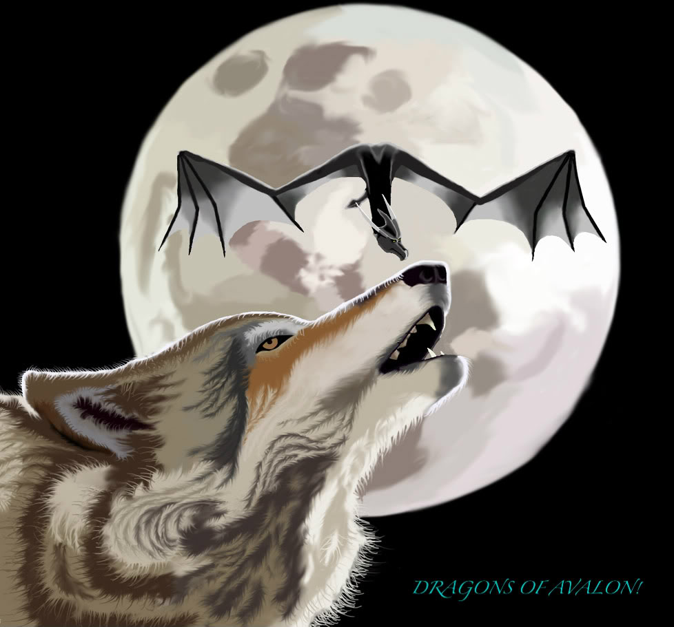 The Full Moons of  Earth' s Satellite 2012 Dragon_wolf_moon_by_DragonWolfACe