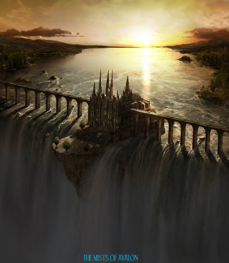 Warm Welcome to all our new members  - Page 5 Waterfall_Castle_matte_art_by_fstarno