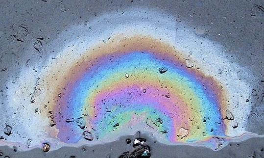Breaking News - 300,000 gallons of diesel spill near New Jersey Diesel-rainbow-wiki