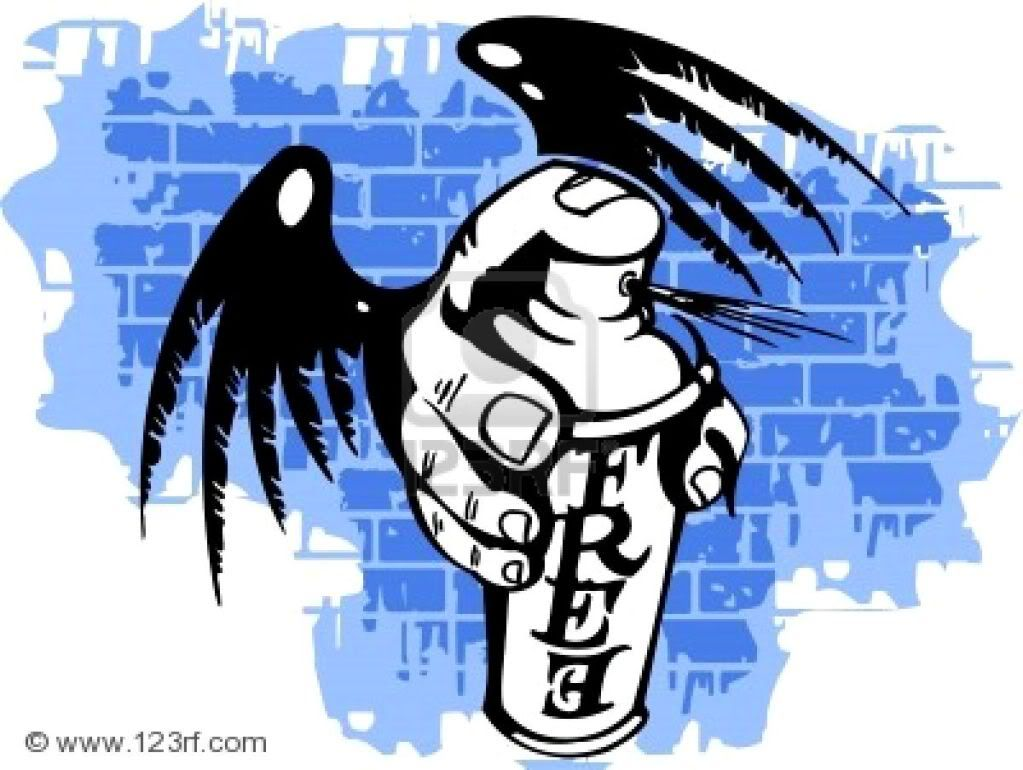 ABLE TO LOVE!!! - !SCHOOL - NEW OLD ALL!!! - RUN 2NE!!! - Page 20 8759186-graffiti--wings-and-spray-ballon-vector-illustration-vinyl-ready