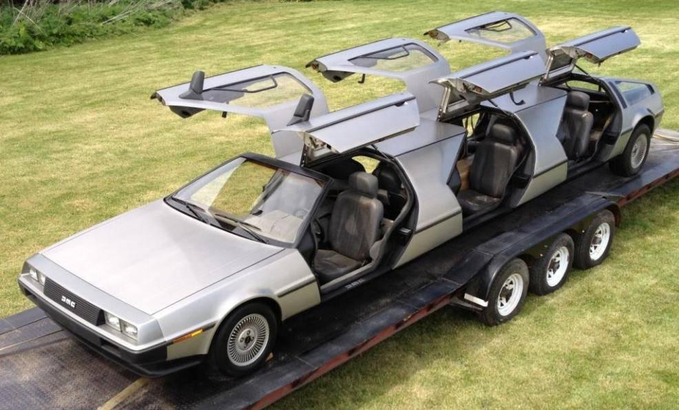 DeLorean limousine D-Limo-doors-open-April-2012_zpsf1b84277