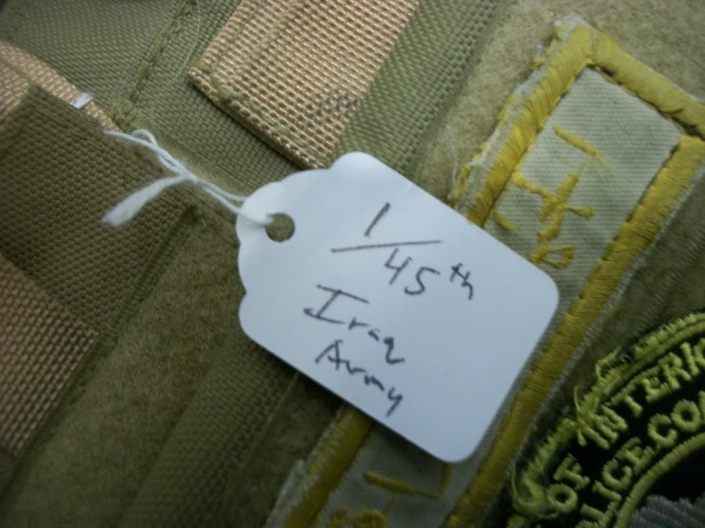 Iraqi worn Vest (1/45th Iraqi Army) US made carrier 101_0781