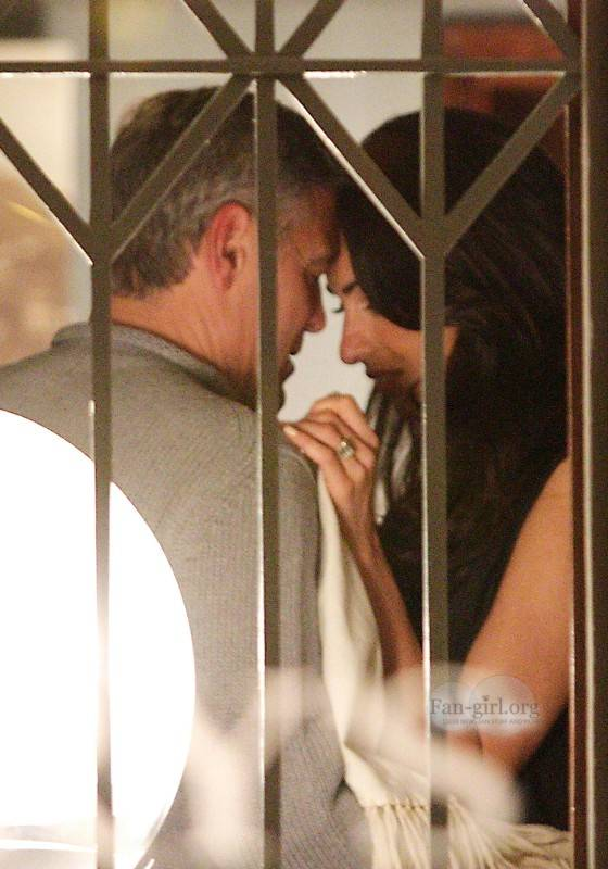 George Clooney with Amal at Harry's Bar What12