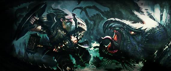 History of the Dwarves 1220x448_8567_Dwarf_vs_Hook_2d_fantasy_dwarf_warrior_monster_battle_picture_image_digital_art1