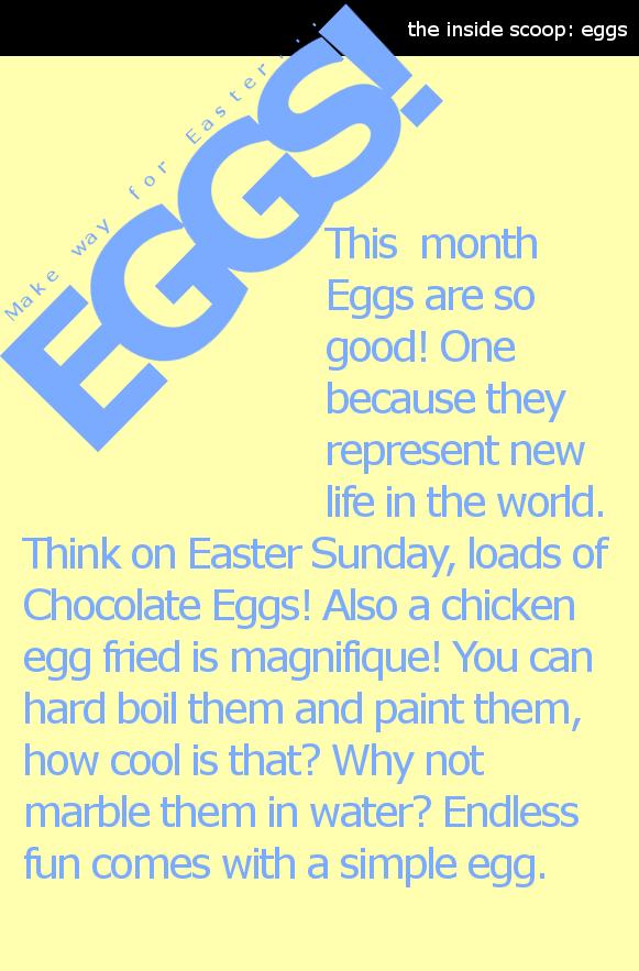 * { BP TIMES ; Issue 5 } * Eggs