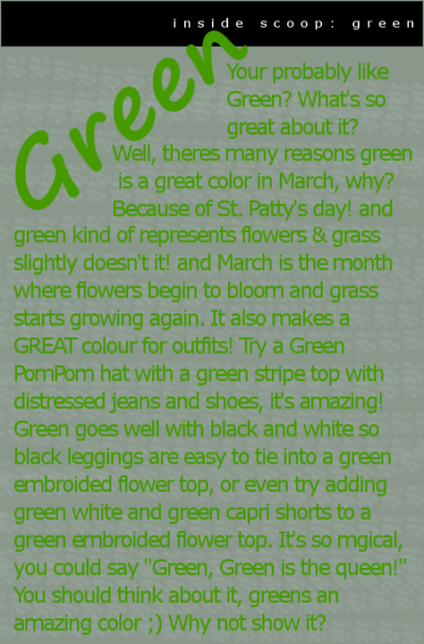 { BP Times ; Issue 4 } ** Greenis
