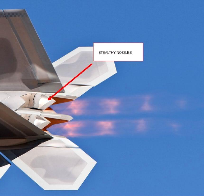 فكرة جديدة لمواجهة الطائرات الخفية  F22NOZZLE