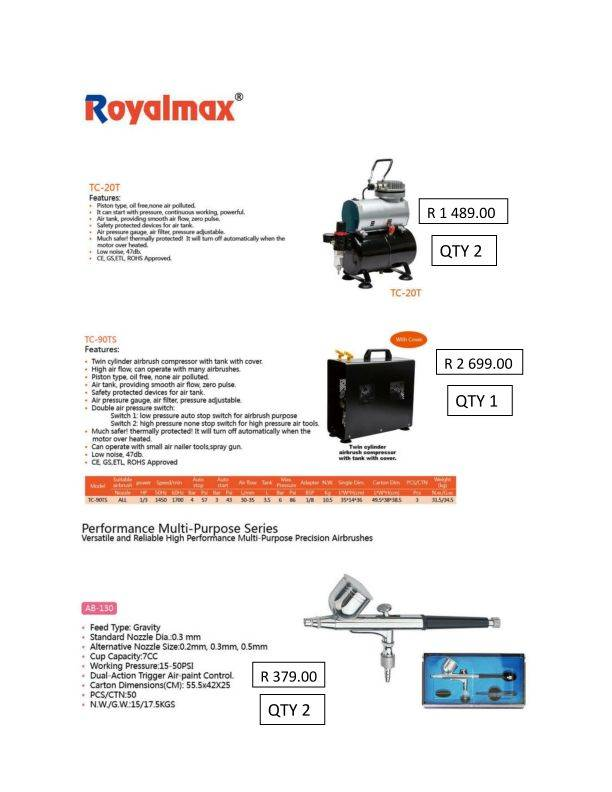 ROYAL MAX AIRBRUSHES & ACESSORIES FROM THERAMIC  Royalmaxad_page_001