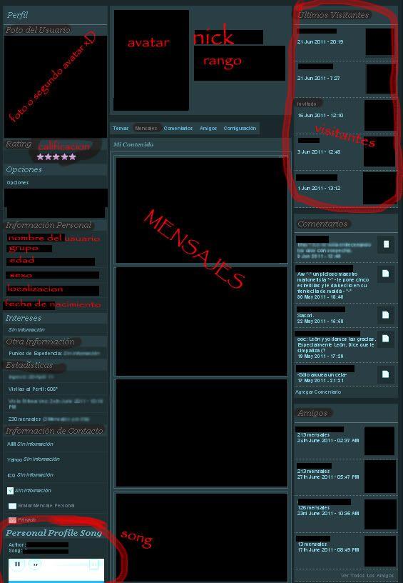 Poner un song para cada perfil de usuario del foro y visitantes en los perfiles. Perfilcopy
