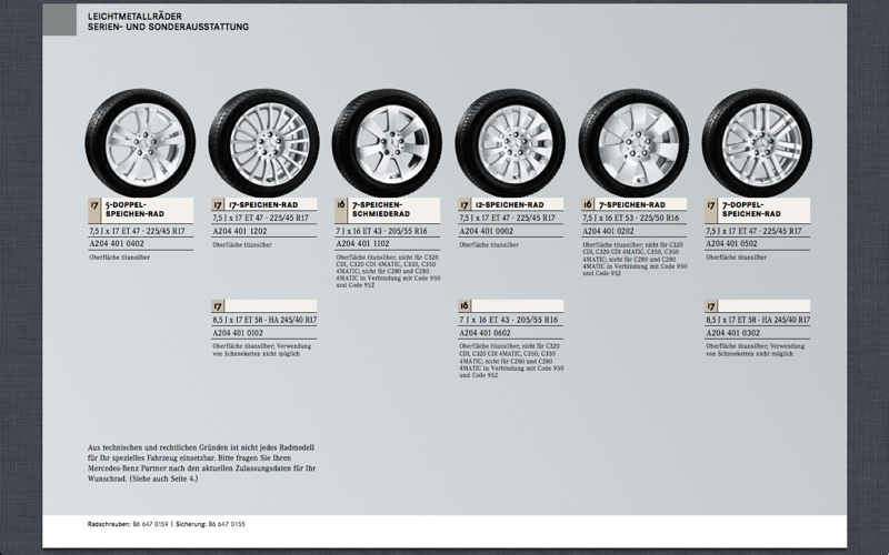 (C/S/W204): Medidas oficiais das rodas e pneus File-105