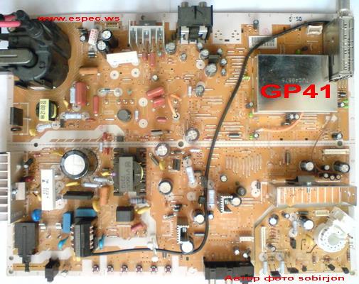 Panasonic TV ( Chassis GP41 ) E Board TNP4G380 / TNP4G389