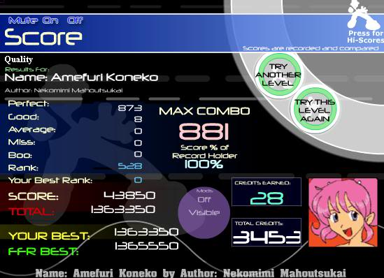 Post your FFR Scores here! - Page 6 AmefuriKoneko