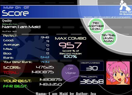 Post your FFR Scores here! - Page 6 IAmMaid