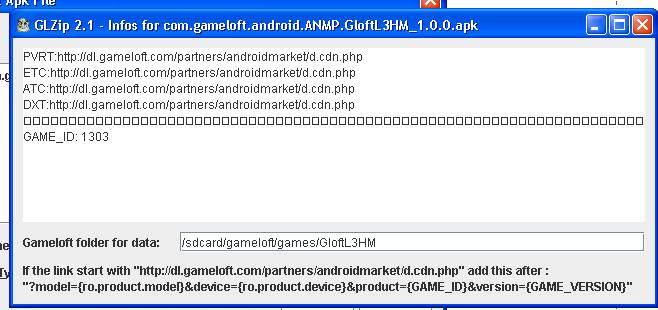 [GUIDE] how to download SD files of gameloft game with your PC Glzip7