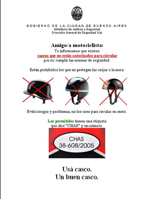 CONTROL DE CASCOS BERRETA en C.A.B.A Cascos_Control