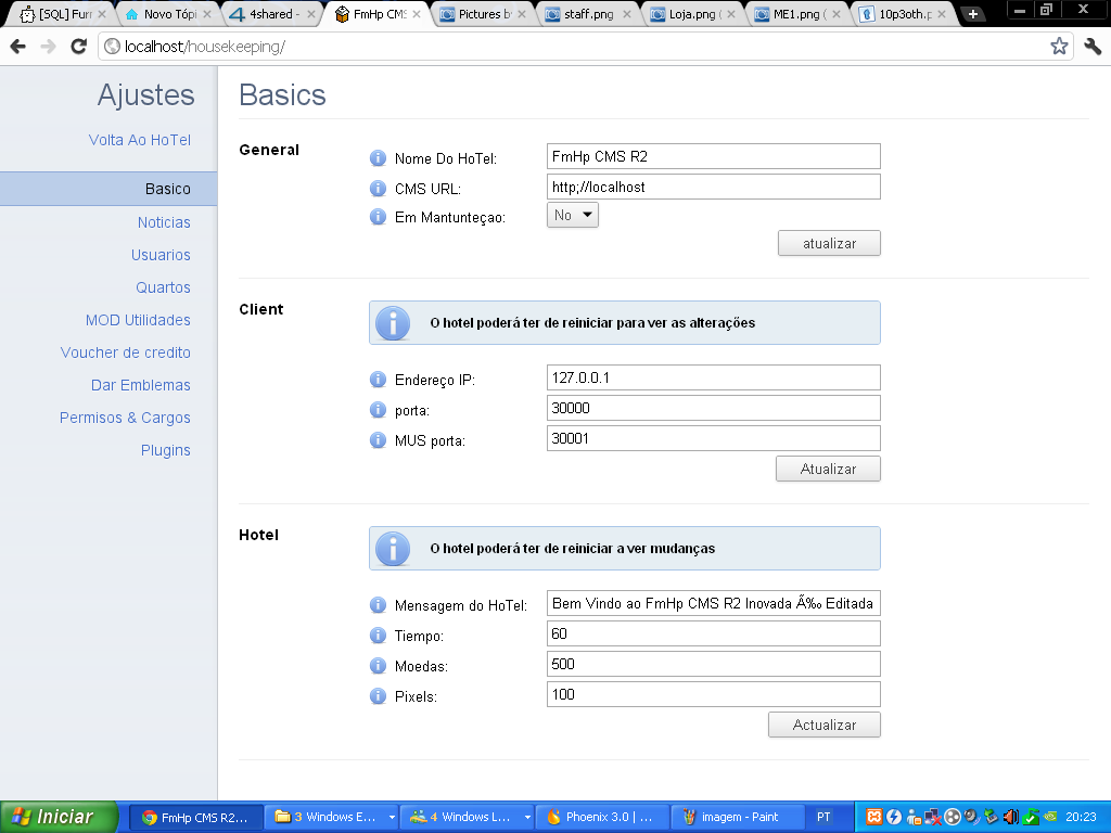 FmHp CMS R2               Panieldecontrole