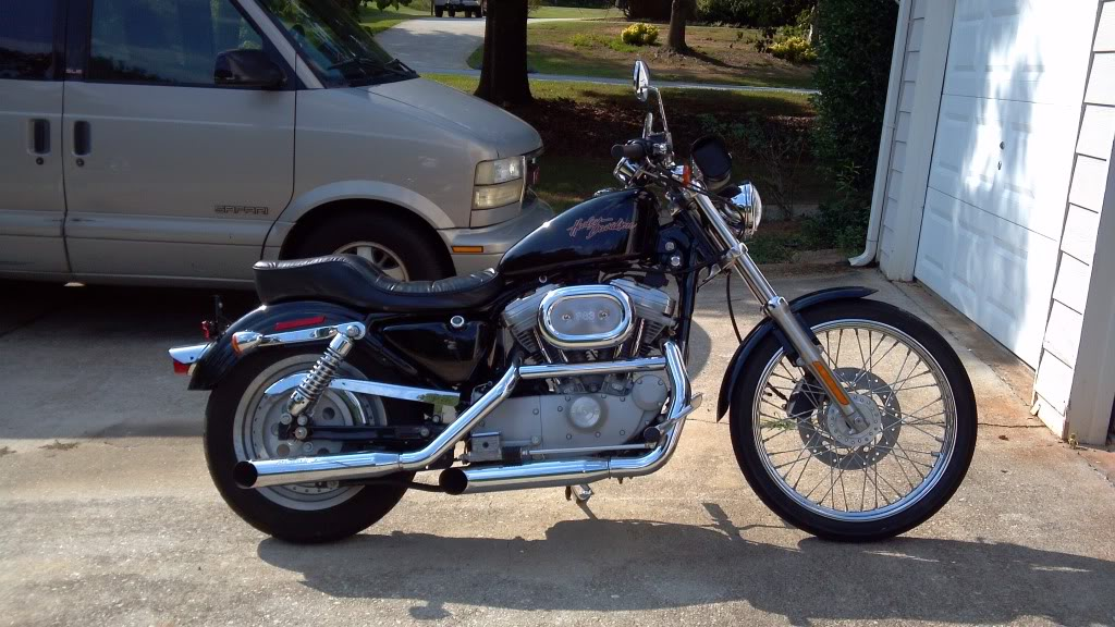 My 2002 Sportster bobber project WhenIbroghtherhome8-05-2011-1