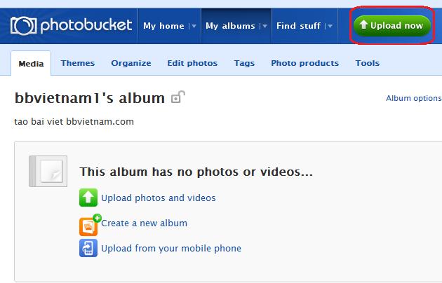 Hướng dãn cách post ảnh Photobucket5