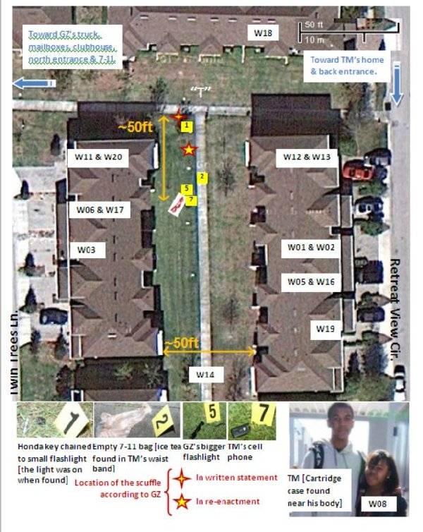 Library: Trayvon Martin Case Documents Witnessmap