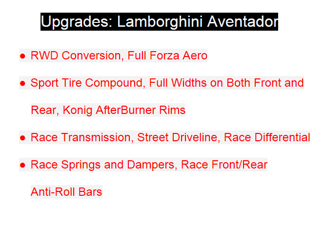 Lamborghini Aventador Review Upgrades