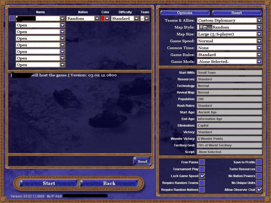 Rise of Nations мултиплейър  с GameRanger RoN4