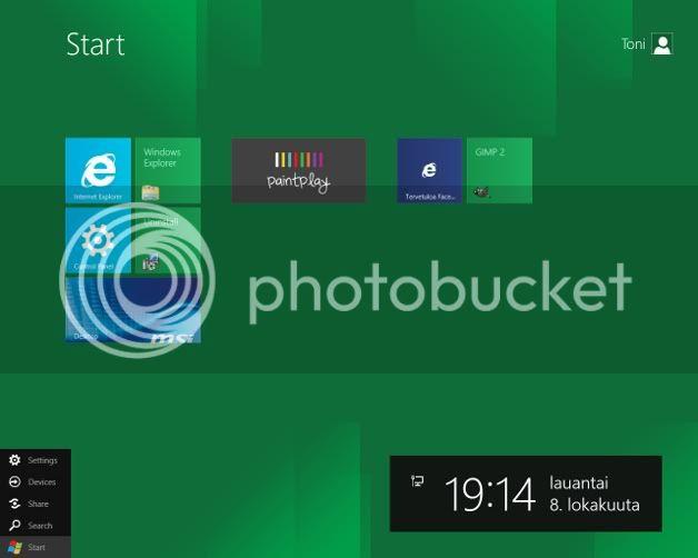 Työpöytäsi? Windows8