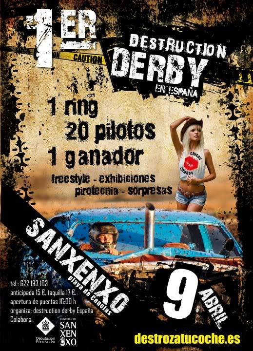 1º Destruction derby en ESPAÑA 164746_179849055382871_171231642911279_434787_4615640_n