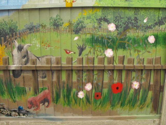 mural for my Mum and her garden DSCF1748