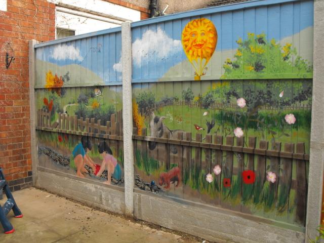 mural for my Mum and her garden DSCF1750