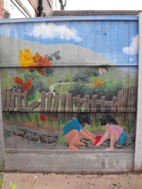mural for my Mum and her garden DSCF1752
