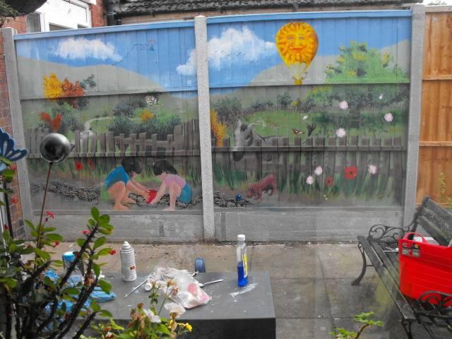 mural for my Mum and her garden DSCF1757