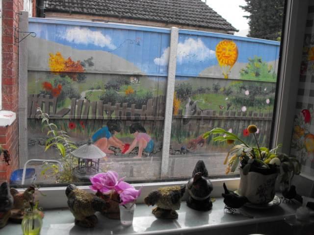mural for my Mum and her garden DSCF1758