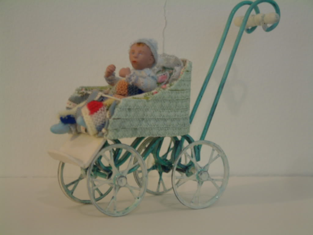 how I made a pushchair and baby Picture260