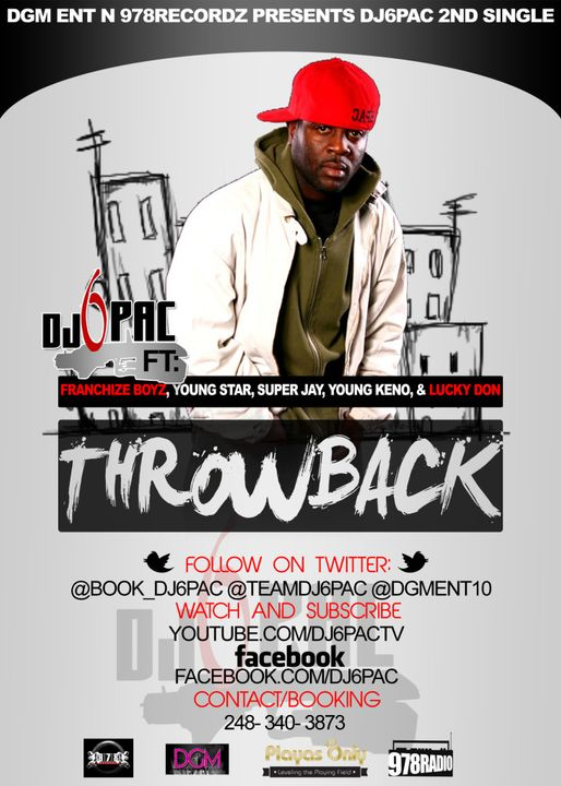 DJ 6PAC - ThrowBack feat Young Star, Super Jay, Young Keno, Luck Don  DJ6PAC-THROWBACKFLYER